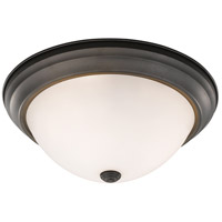 Athena 3 Light 15 inch Bronze Flush Mount Ceiling Light in Frosted
