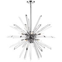 Z-Lite 4003-10CH Burst 10 Light 42 inch Chrome Chandelier Ceiling Light