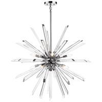 Z-Lite 4003-10CH Burst 10 Light 42 inch Chrome Chandelier Ceiling Light