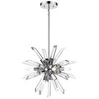 Z-Lite 4003-4CH Burst 4 Light 21 inch Chrome Chandelier Ceiling Light