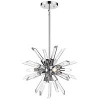 Z-Lite 4003-4CH Burst 4 Light 21 inch Chrome Chandelier Ceiling Light