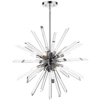 Z-Lite 4003-8CH Burst 8 Light 33 inch Chrome Chandelier Ceiling Light