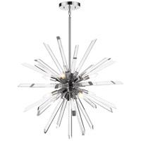 Z-Lite 4003-8CH Burst 8 Light 33 inch Chrome Chandelier Ceiling Light