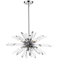 Z-Lite 4003-8L-CH Burst 8 Light 33 inch Chrome Island Light Ceiling Light
