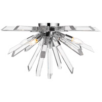 Z-Lite 4003-F-CH Burst 4 Light 25 inch Chrome Flush Mount Ceiling Light