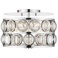 Z-Lite 4004-14CH Eternity 3 Light 15 inch Chrome Flush Mount Ceiling Light