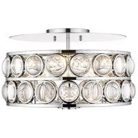 Z-Lite 4004-18CH Eternity 5 Light 18 inch Chrome Flush Mount Ceiling Light