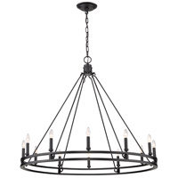 Z-Lite 4005-12MB Dennison 12 Light 48 inch Matte Black Chandelier Ceiling Light