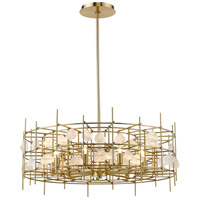 Z-Lite 4007-32AGBR Garroway 9 Light 32 inch Aged Brass Chandelier Ceiling Light