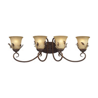 Z-Lite Coventry 4 Light Vanity in Antique Gold 403-4V photo thumbnail