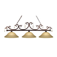 Z-Lite Santa Maria 3 Light Island/Billiard in Mayan Gold 404-3-GSW16