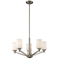 Montego 5 Light 26 inch Brushed Nickel Chandelier Ceiling Light