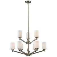 Z-Lite Montego 9 Light Chandelier in Brushed Nickel 410-9