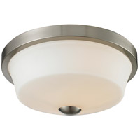 Z-Lite 410F2 Montego 2 Light 13 inch Brushed Nickel Flush Mount Ceiling Light