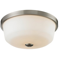 Z-Lite Montego 3 Light Flush Mount in Brushed Nickel 410F3