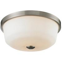 Z-Lite 410F3 Montego 3 Light 18 inch Brushed Nickel Flush Mount Ceiling Light