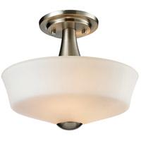 Z-Lite 410SF2 Montego 2 Light 12 inch Brushed Nickel Semi Flush Mount Ceiling Light