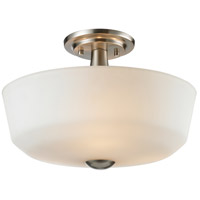 Montego 3 Light 15 inch Brushed Nickel Semi Flush Mount Ceiling Light