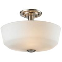 Z-Lite 410SF3 Montego 3 Light 15 inch Brushed Nickel Semi Flush Mount Ceiling Light