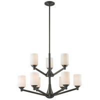 Z-Lite Montego 9 Light Chandelier in Coppery Bronze 411-9