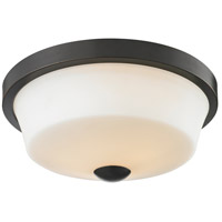 Z-Lite 411F2 Montego 2 Light 13 inch Coppery Bronze Flush Mount Ceiling Light