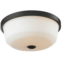 Z-Lite Montego 3 Light Flush Mount in Coppery Bronze 411F3