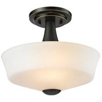 Z-Lite 411SF2 Montego 2 Light 12 inch Coppery Bronze Semi Flush Mount Ceiling Light