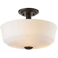 Montego 3 Light 15 inch Coppery Bronze Semi Flush Mount Ceiling Light