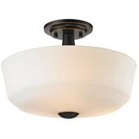 Z-Lite 411SF3 Montego 3 Light 15 inch Coppery Bronze Semi Flush Mount Ceiling Light