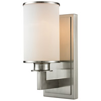 Z-Lite Savannah 1 Light Wall Sconce in Brushed Nickel 412-1S