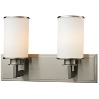 Savannah 2 Light 16 inch Brushed Nickel Vanity Wall Light