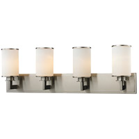Z-Lite 412-4V Savannah 4 Light 32 inch Brushed Nickel Vanity Wall Light