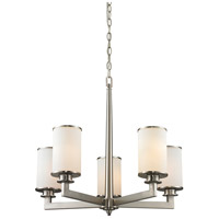 Z-Lite Savannah 5 Light Chandelier in Brushed Nickel 412-5