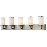 Z-Lite 412-5V Savannah 5 Light 39 inch Brushed Nickel Vanity Wall Light