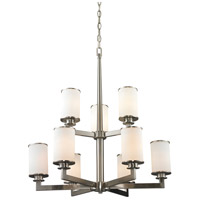 Z-Lite Savannah 9 Light Chandelier in Brushed Nickel 412-9