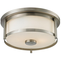 Z-Lite 412F11 Savannah 2 Light 11 inch Brushed Nickel Flush Mount Ceiling Light