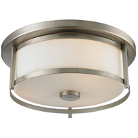 Z-Lite 412F14 Savannah 2 Light 14 inch Brushed Nickel Flush Mount Ceiling Light