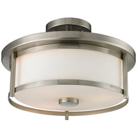 Z-Lite 412SF14 Savannah 2 Light 14 inch Brushed Nickel Semi Flush Mount Ceiling Light