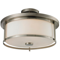 Savannah 3 Light 16 inch Brushed Nickel Semi Flush Mount Ceiling Light