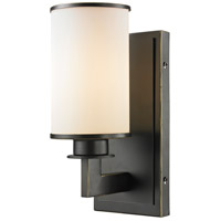 Z-Lite Savannah 1 Light Wall Sconce in Olde Bronze 413-1S