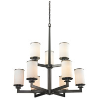 Z-Lite Savannah 9 Light Chandelier in Olde Bronze 413-9
