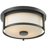 Z-Lite Savannah 2 Light Flush Mount in Olde Bronze 413F11