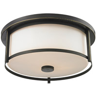 Z-Lite 413F16 Savannah 3 Light 16 inch Olde Bronze Flush Mount Ceiling Light