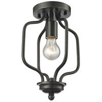 Z-Lite Cardinal 1 Light Semi Flush Mount in Olde Bronze 414-12