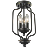 Z-Lite Cardinal 3 Light Semi Flush Mount in Olde Bronze 414-14