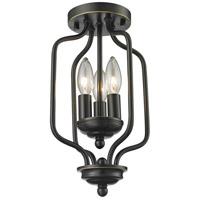 Z-Lite 414-14 Cardinal 3 Light 8 inch Olde Bronze Flush Mount Ceiling Light in 14