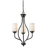 Cardinal 3 Light 18 inch Olde Bronze Chandelier Ceiling Light
