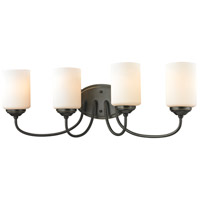 Z-Lite 414-4V Cardinal 4 Light 27 inch Olde Bronze Vanity Wall Light