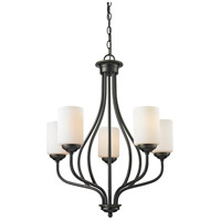 Cardinal 5 Light 23 inch Olde Bronze Chandelier Ceiling Light
