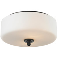 Z-Lite Cardinal 2 Light Flush Mount in Olde Bronze 414F2